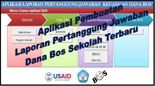 Aplikasi Pembuatan Laporan Pertanggung Jawaban Dana Bos Sekolah Terbaru