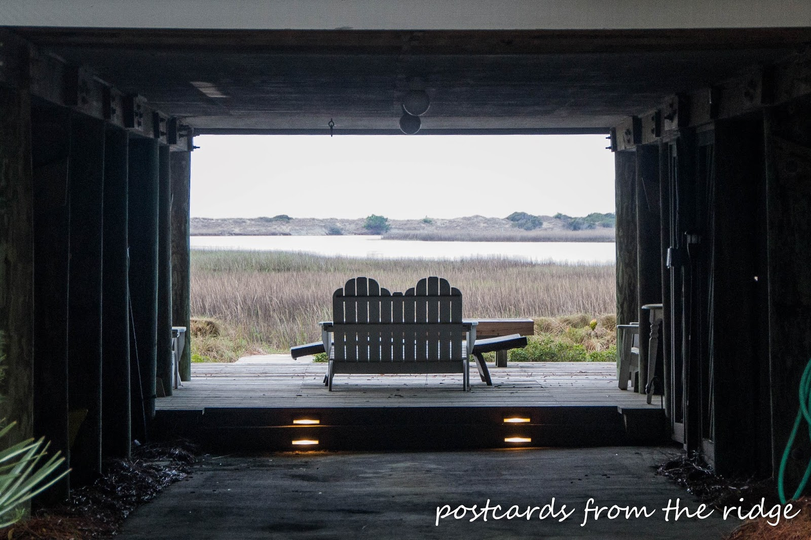 Lovely spot overlooking the marsh at Kiawah Island, SC. Postcards from the Ridge.
