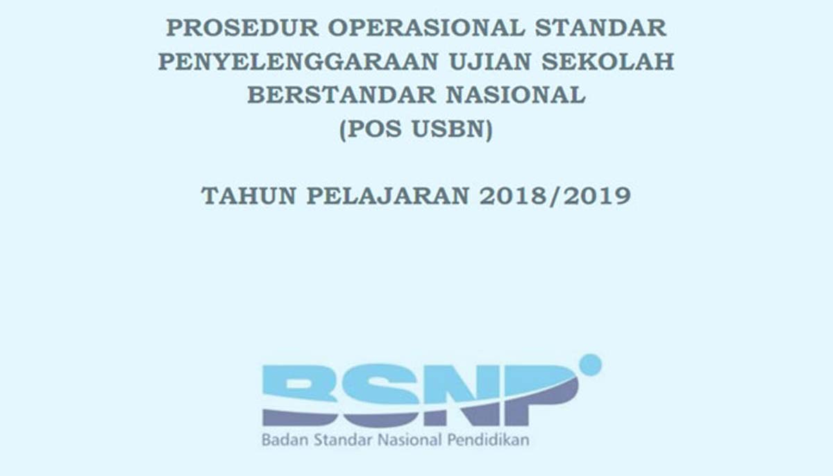 Download POS USBN 2018-2019 SD MI SMP MTs MA SMA SMK