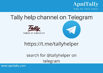 Tally help channel on Telegram