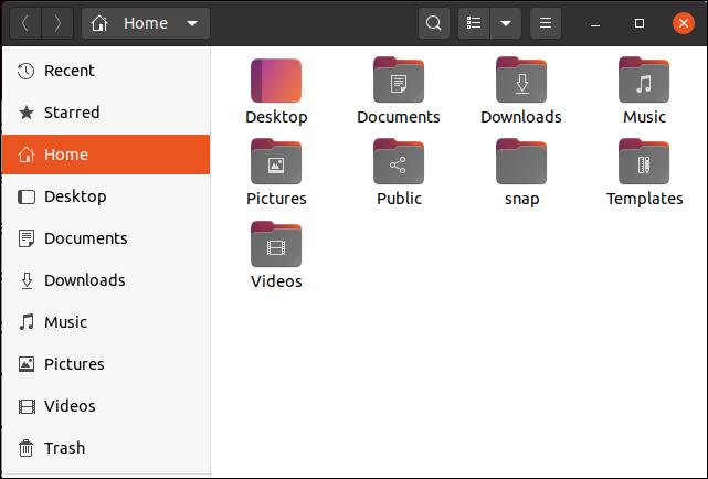 أيقونات ملف Ubuntu 20.04 في متصفح الملفات تُظهر الإبرازات اللونية الجديدة