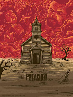 "Preacher Screen Print Series: ""Episode 1"" by Dave Quiggle x Gallery 1988"