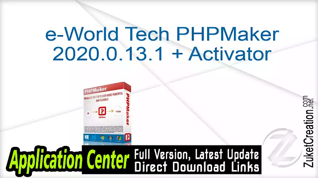 e-World Tech PHPMaker 2020.0.13.1 + Activator