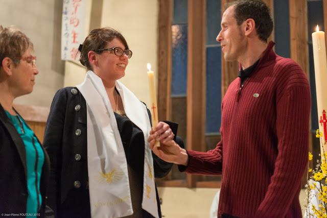 Baptême à Paron Yonne Veillée Pascale 2015