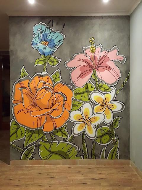 Lukisan Mural bunga