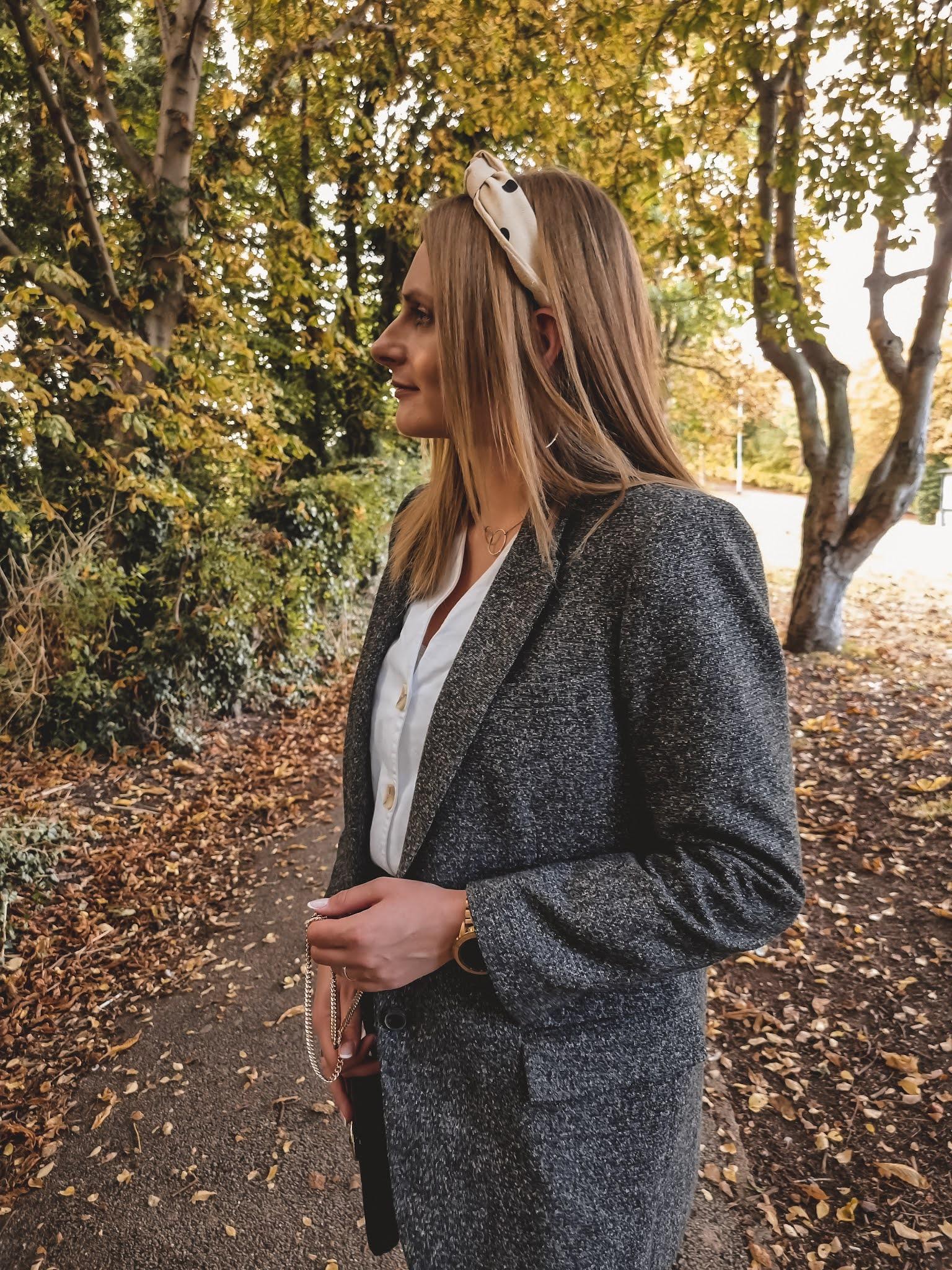 Autumn Shades of grey czyli mom jeans, marynarka i mokasyny