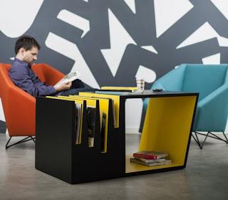 Genial diseño de mesa cafetera.
