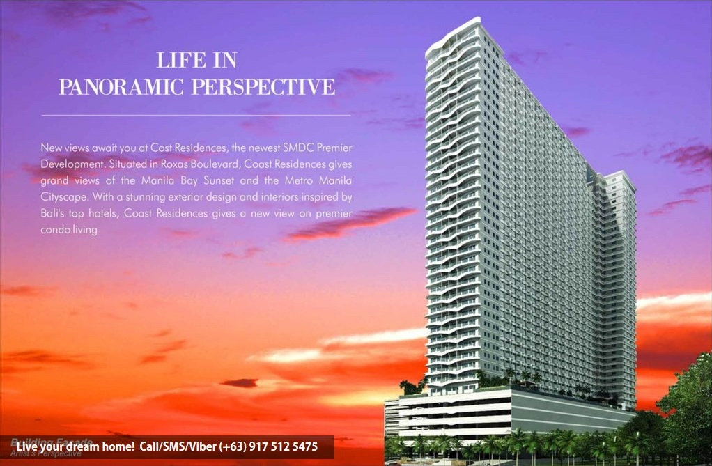 SMDC Coast Residences - 1 Bedroom Unit With Den | Condominium for Sale Roxas Boulevard Pasay
