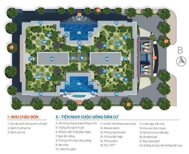 Tiện ích nội khu chung cư sunshine center Phạm Hùng