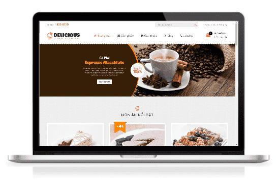 Giao diện blog bán hàng Ẩm thực bánh kẹo