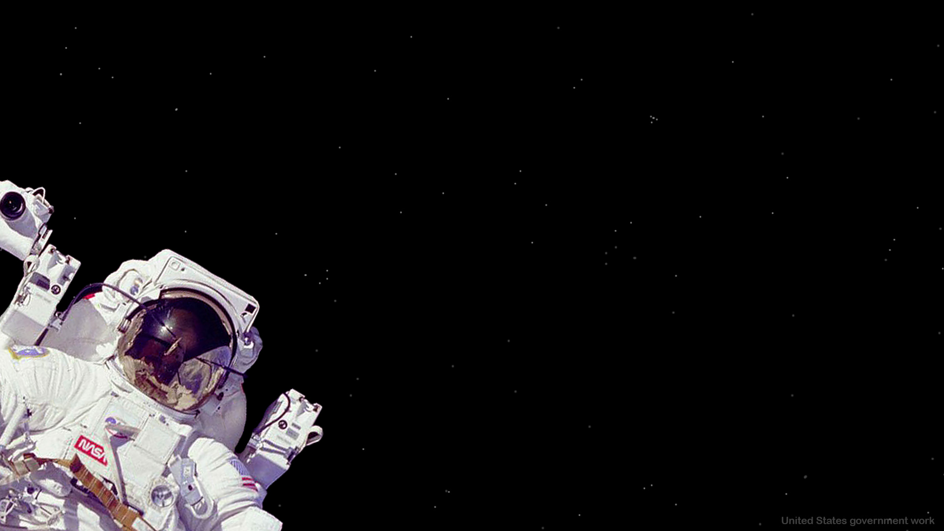 Astronaut in Space with empty black space Background