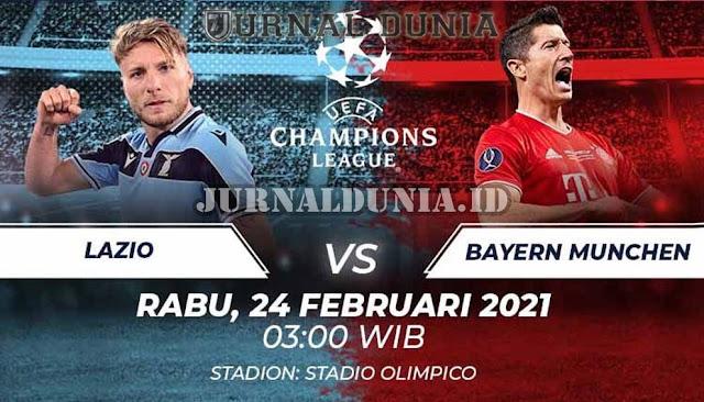 Prediksi Lazio vs Bayern Munich, Rabu 24 Februari 2021 Pukul 03.00 WIB