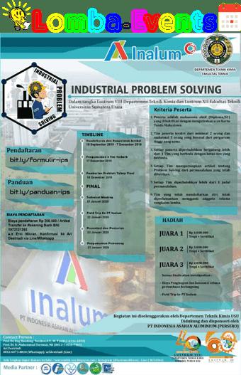 Lomba Industrial Problem Solving INALUM USU 2019 Mahasiswa
