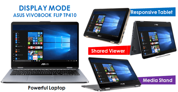 display mode Vivobook Flip TP410