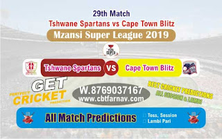 Mzansi Super League CTB vs TST 29th Today Match Prediction Reports