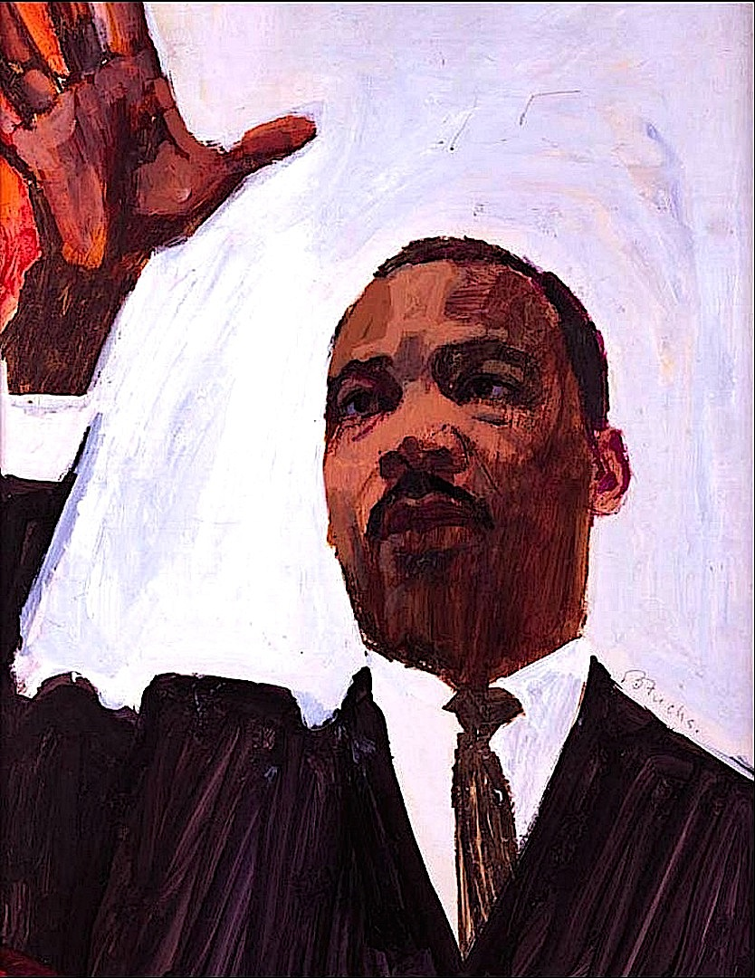 a Bernie Fuchs illustration of Dr. Martin Luther King