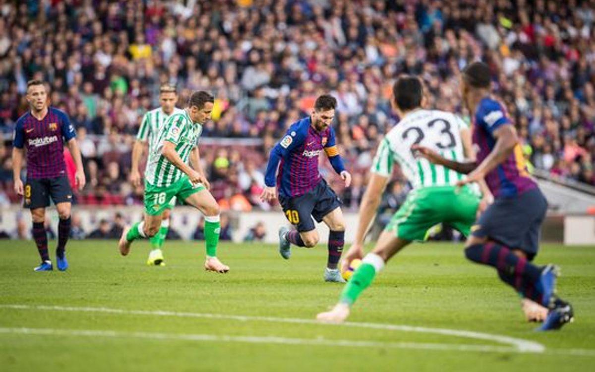 تشكيلة برشلونة ضد ريال بتيس