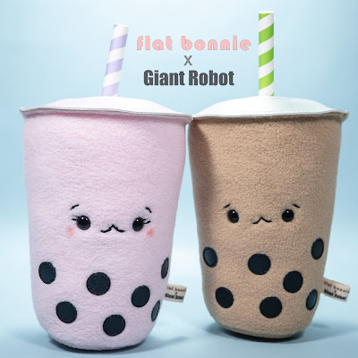Designer Con 2019 Exclusive Boba People Plush by Flat Bonnie x Giant Robot