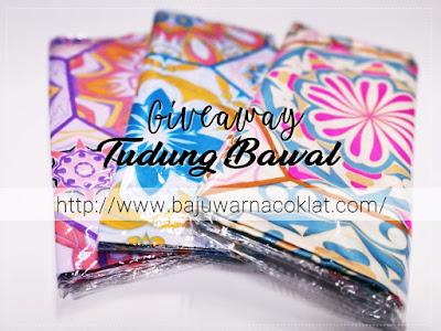 Giveaway Tudung Bawal by Cik Puan Rrai, Blogger Giveaway, Blog, Hadiah, Peserta, Pemenang, Tudung,