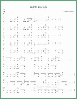 not angka lagu wulele sanggula lagu daerah sulawesi tenggara