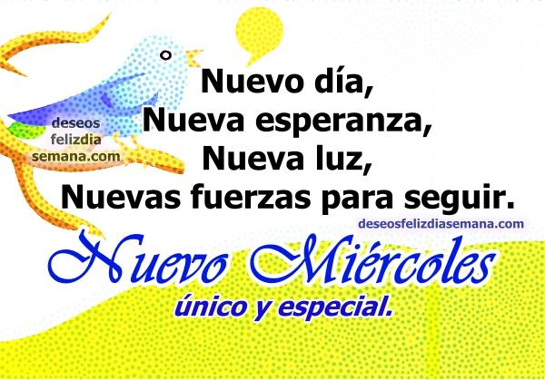 Bonitas imágenes de feliz miércoles con frases de aliento para amigos, mensajes de motivación y ánimo por Mery Bracho.