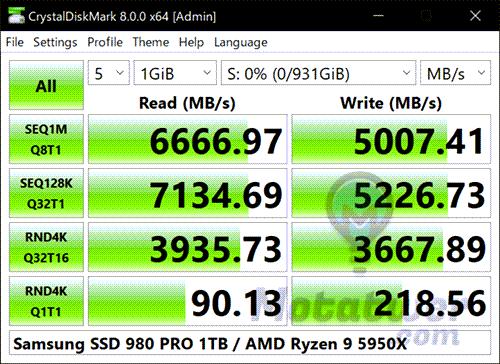 اداة قياس سرعة وصحة الهارد HDD و SSD