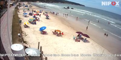 Praia de Bombinhas ao vivo