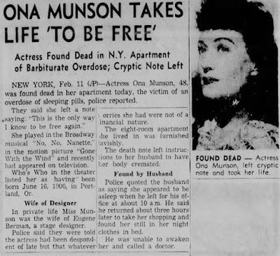 Ona Munson Suicide