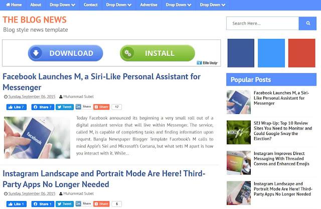 Blog News SEO Optimized Blogger Template