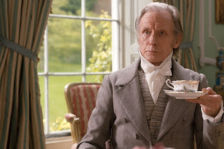 Bill Nighy starring as the heroine's father, Mr Woodhouse, in Autumn de Wilde's film, Emma (2020).