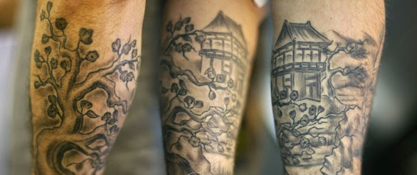 japonese scene lower sleeve tattoo