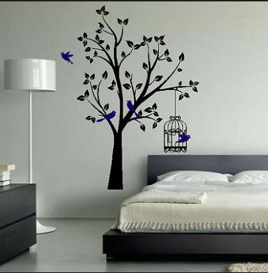 Inspirasi Desain Kamar Tidur  Dengan Nuansa Pepohonan Yang Adem Dan Asri 5