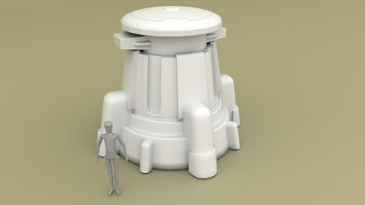 Weapons Turret (designed to be used with magnetised weapons from plastic kits)