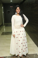 Megha Akash in beautiful White Anarkali Dress at Pre release function of Movie LIE ~ Celebrities Galleries 016.JPG