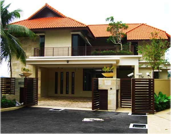 gambar rumah minimalis 2 lantai sederhana atap limas
