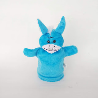 Boneka Tangan Hewan Keledai Animal hand Puppets