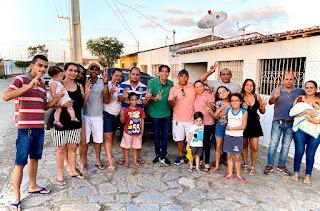 Nelinho Costa finaliza mais uma semana recebendo o apoio de amigos de Cacimba de dentro