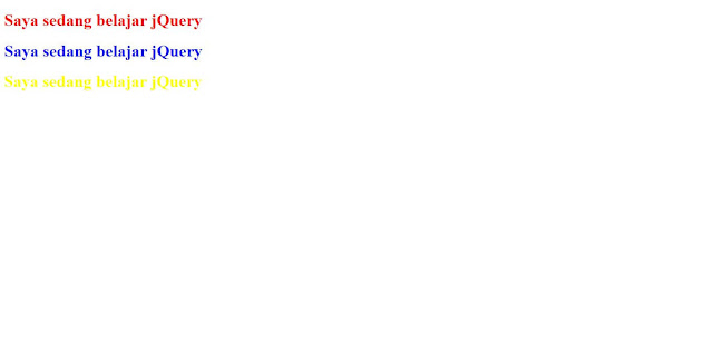Tutorial jQuery #2 : Selector pada jQuery