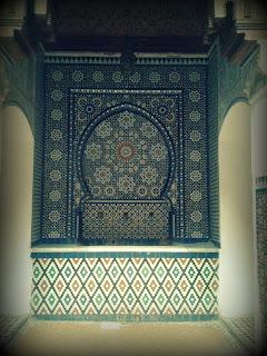 une fontaine  à Meknés