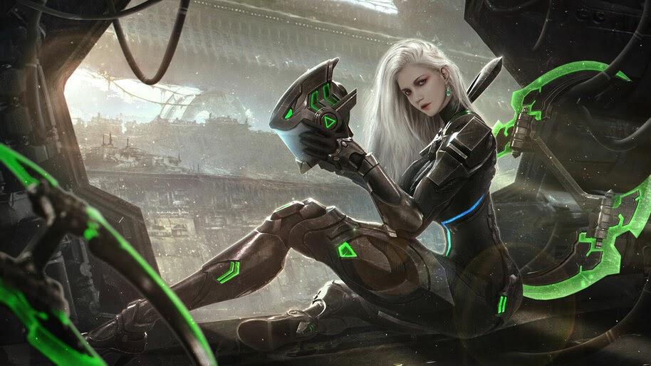 Sci-Fi, Girl, Warrior, 4K, #4.946
