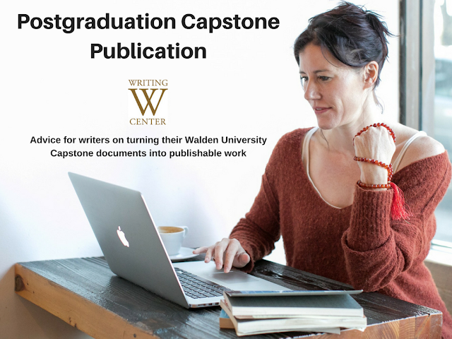 Advice for writers on turning their Walden University Capstone documents into publishable work