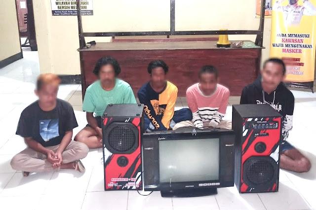 Polisi borgol 5 pelaku pencurian di Dompu, 1 bawah umur