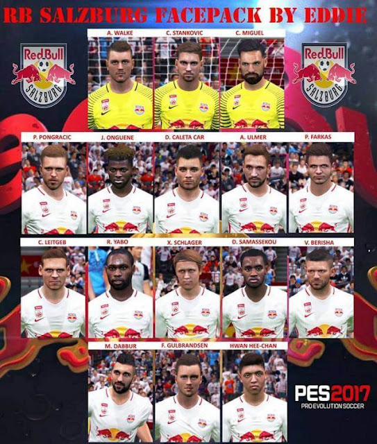 FC Red Bull Salzburg Facepack PES 2017