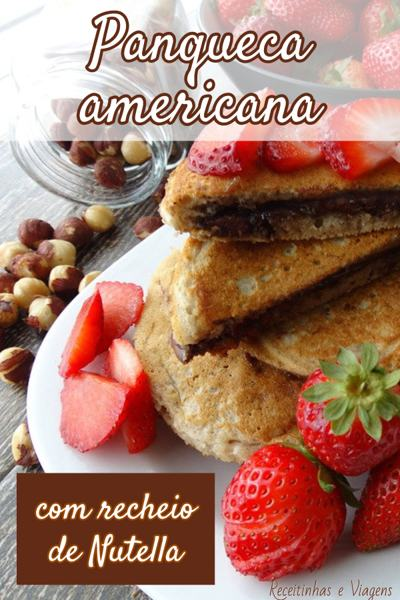 Como fazer panqueca americana de aveia com recheio de nutella
