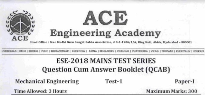 ESE-2 TEST-1 MECHANICAL ENGINEERING [ACE ACADEMY]