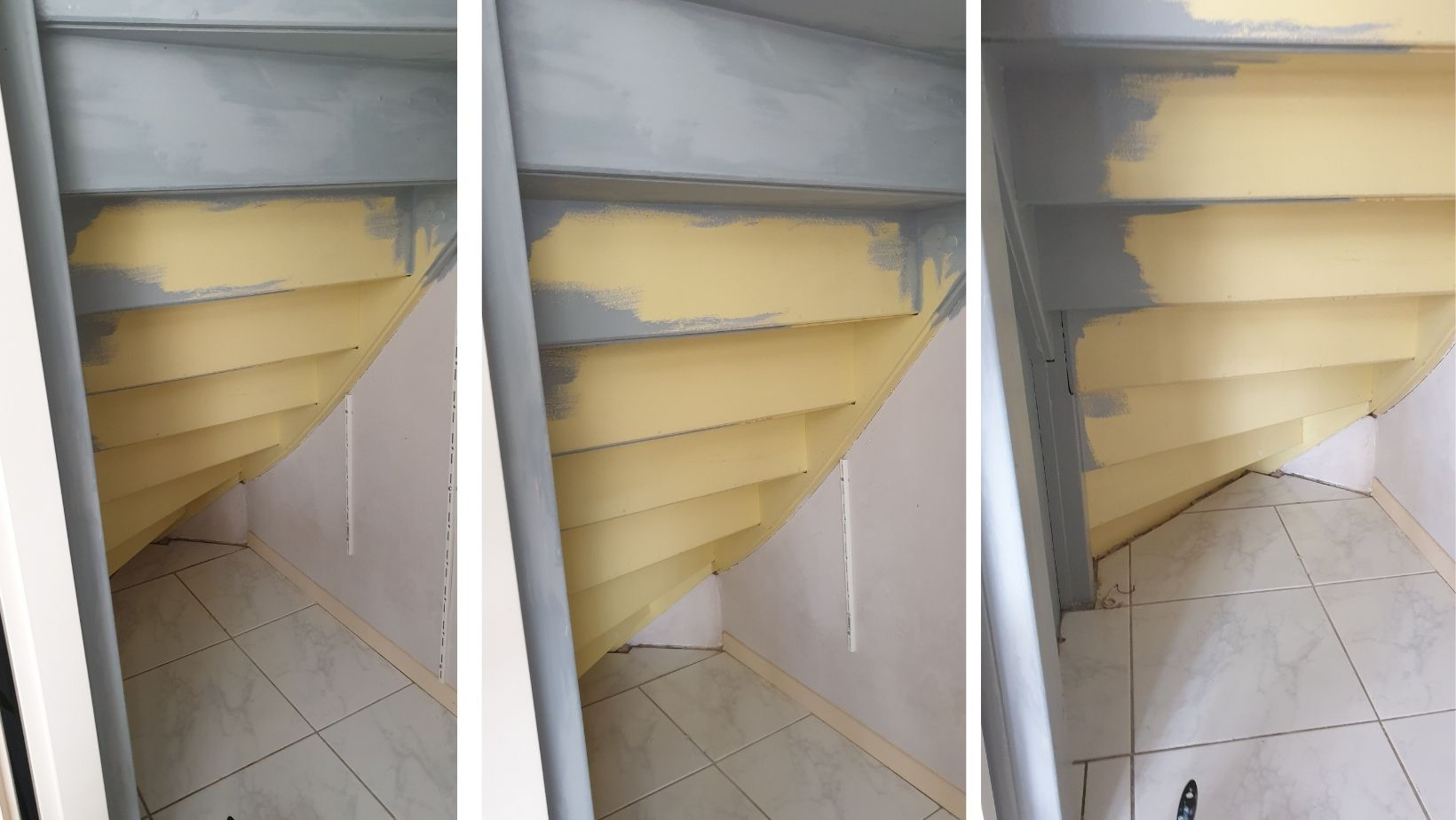 spiżarka pod schodami