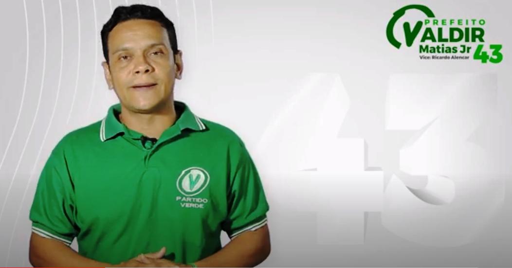 Valdir Matias Jr, do PV: 'A minha candidatura é melhor para Santarém'; vídeo