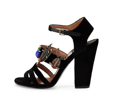 Laurence Dacade Black Embellished Sandals