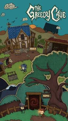 تحميل لعبة المغامرات  The Greedy Cave النسخة المهكرة للاجهزة الاندرويد باخر تحديث مجانا