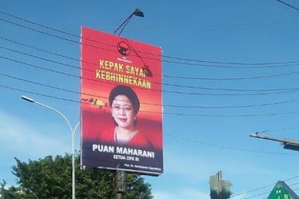 Baliho Puan Maharani Mejeng di Yogya, PDIP DIY: Mungkin dari Tim Mbak Puan